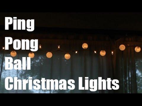 Ping Pong Ball Christmas Lights
