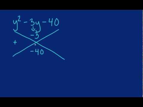 Algebra - Factoring Trinomials