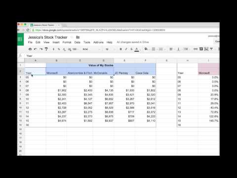Spreadsheets: Create a Multi Line Graph