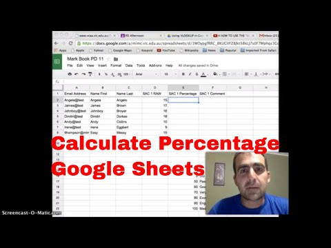 Calculating Percentage in Google sheets