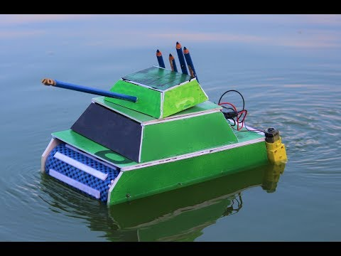 How To Make a Tank - Tank Driving On Water and Road