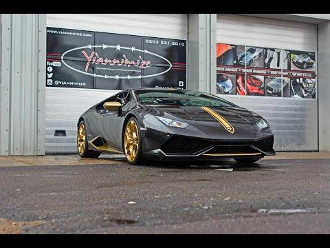 Lamborghini Huracan goes Black and Gold!
