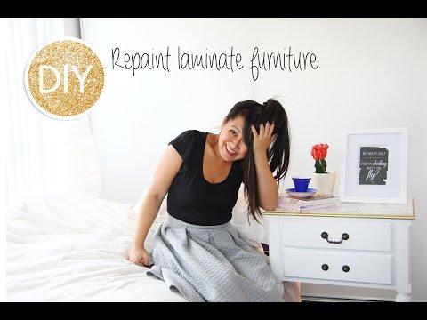 How to repaint furniture (wood veneer and laminate)