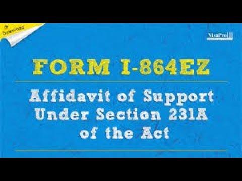 Filipina I-130 Spousal Visa Part-5-Application of Support ( AOS ) ( I-864 EZ )