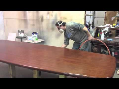 refinishing a mahogany  conference table downtown grand rapids mi