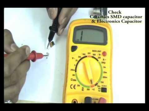 smd capacitor ceramic & electrolyte basic electronics training (Hindi)