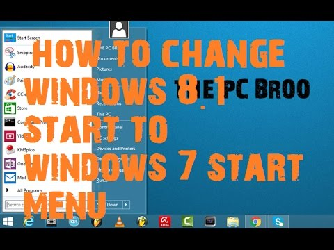 how to change windows 8.1 start to windows 7 start menu