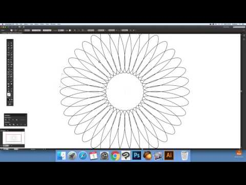 Illustrator - How to rotate and copy paths (Intermediate) tutorial