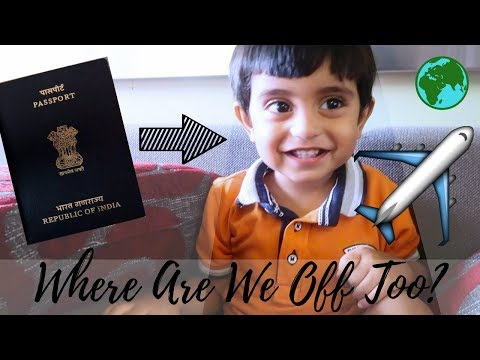 Indian Passport for a 1 year old | GUESS WHERE WE ARE GOING?! | Diwalog