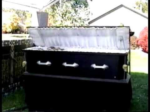 Animatronic Coffin Halloween Prop
