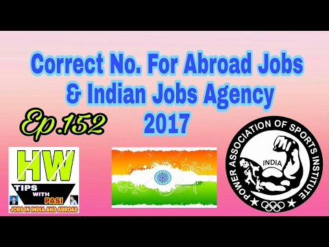 Abroad Agency Contact No, & Indian Jobs Contact No, How to Contact correct Person For Jobs, In Hindi