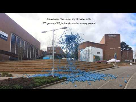 University of Exeter greenhouse gas emissions in real-time