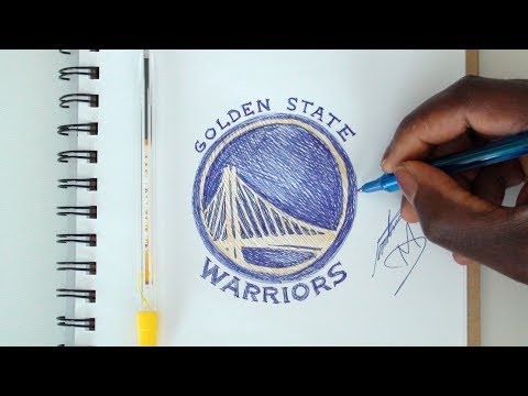 SKETCH SUNDAY #31 How To Draw Golden State Warriors Logo - DeMoose Art