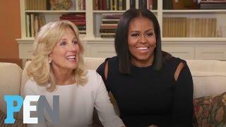 Michelle Obama & Dr. Jill Biden On Their Husbands