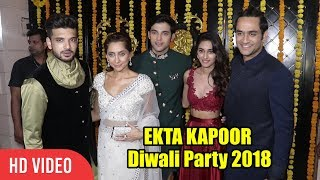 HOT Couple Erica Fernandes and Parth Samthaan at Ekta Kapoor Diwali 2018 | Kasautii Zindagii Kay 2