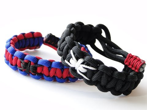 How to Make a Venom or Spider-Man Themed Paracord Survival Bracelet-Mad Max Style Closure