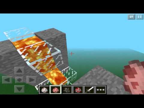 Como Crear Un Cañón de Mobs En Minecraft Pocket Edition 0.7.6