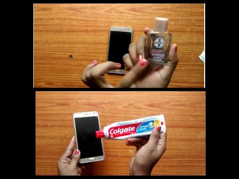 **|How to clean mobile screen and camera screen with beauty product|**