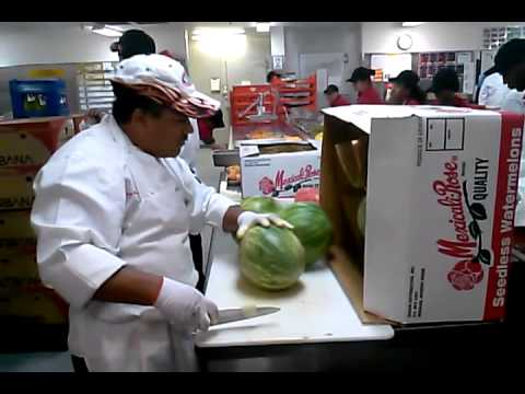 Amazing cutting. Watermelon high speed.