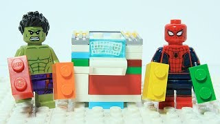 Lego Spider-man Color Brick Mixing Machine Funny Superheroes Stop Motion