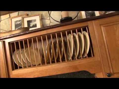 Wall Open Shelf Plate Rack