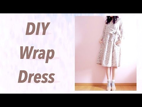 DIY Wrap Dress / Sewing Tutorialㅣmadebyaya