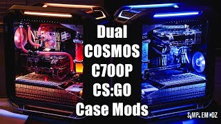 Dual CS:GO Cooler Master COSMOS C700P Case Mod Time Lapse
