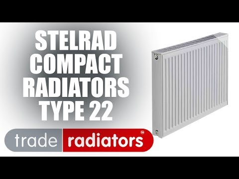 Stelrad Compact Radiator, White, 600mm x 1200mm Double Panel, Double Convector