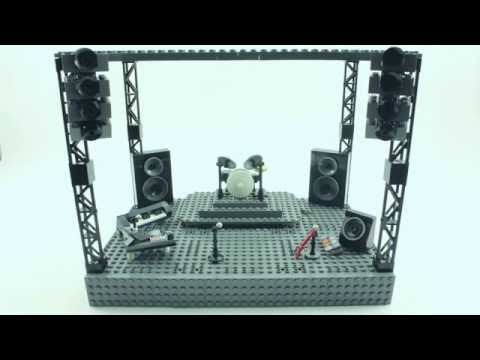 How to Build a LEGO Stage for a Rock Concert in Stop-Motion (Stage from The Guilty Club - Wating)