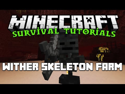 How to: Wither Skeleton Farm - Survival Friendly Minecraft Tutorials