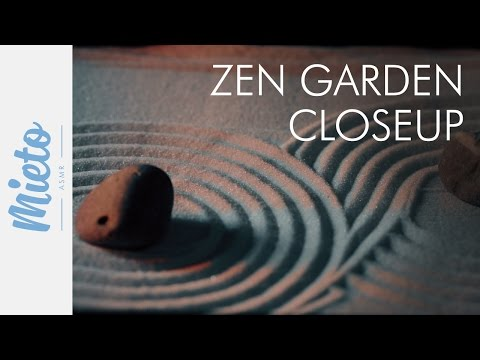ASMR. Zen Garden - Extreme Closeup, Raking the Sand. No Talking