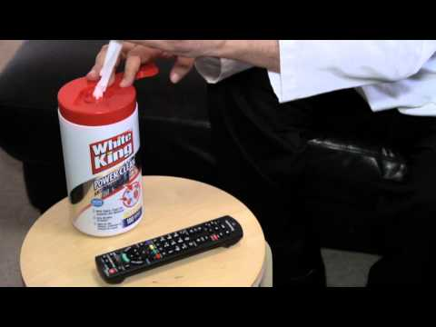 HOW TO CLEAN YOUR TV REMOTE - WHITE KING ANIT-BACTERIAL WIPES