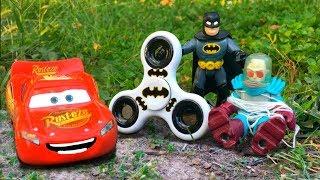 Lightning McQueen Saved by Imaginext Batman Using Fidget Spinner Mr Freeze Gets Arrested Put in Jail