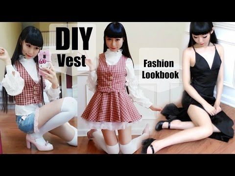 DIY Vest (From Scratch)+Pattern Making+Sew Button Hole+Fashion Lookbook