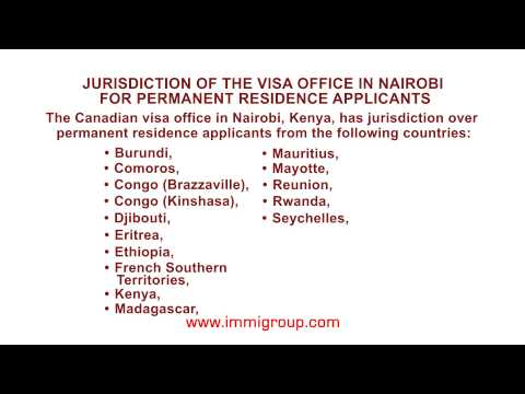 Jurisdiction of the visa office in Nairobi for permanent residence applicants