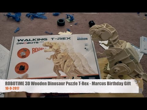 ROBOTIME 3D Wooden Dinosaur Puzzle T-Rex - Marcus Birthday Gift