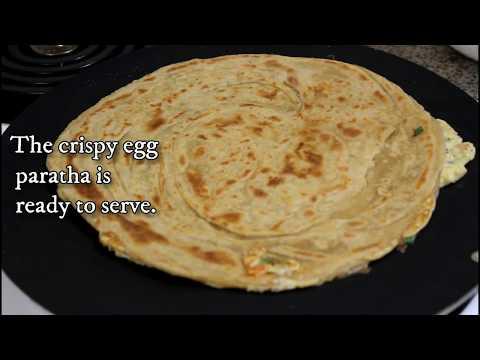 Crispy Egg Paratha Roll   Homemade restaurant-style flaky layered Egg paratha   Kids Lunch Box Idea