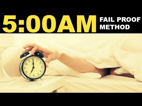 How to wake up at 5AM everyday & not feel tired | 5 Tips on waking up early