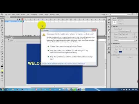 Cách tạo chuyển động Frame By Frame với Flash CS6