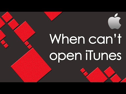 When can't open iTunes. How to fix.