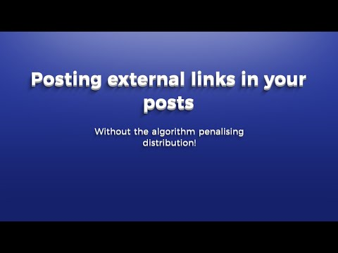 Inserting an external link into a LinkedIn post