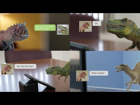 Weird text messages. Funny? Maybe. Weird? Yes. Three dinosaur friends chat online.
