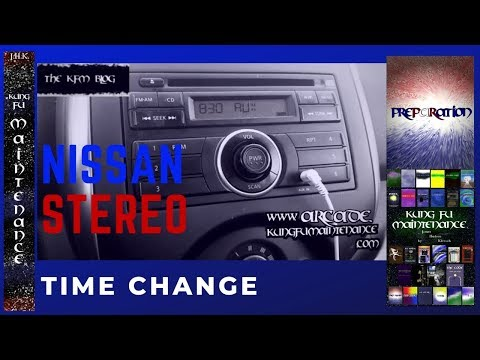 How To Set Time Clock For Nissan Stock Car Stereo Ahead Or Back For Daylight Savings Change Video