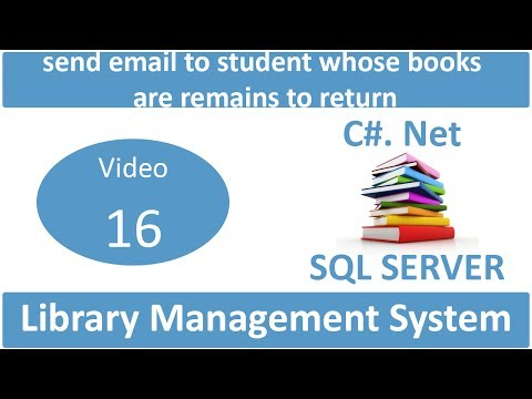 send email to student whose books are remains to return