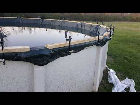 How to Make the Strongest Above Ground Winter Pool Cover in High Wind Areas