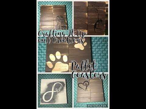 Dollar Tree DIY Pallet Coasters - Farmhouse Primitive Shabby Chic Decor and Functional