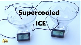 How to Cool Ice to MINUS 10 degrees in few minutes. Cool Science Experiment