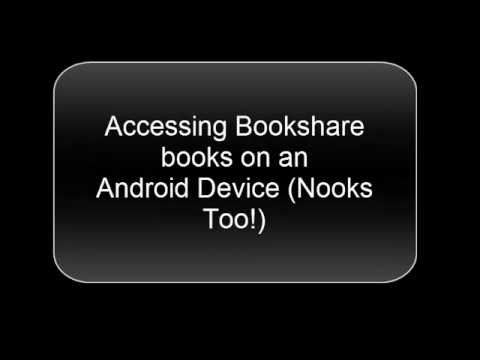 Accessing and Reading Bookshare Books on an Android Tablet