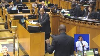Drama In Parliament - Jacob Zuma vs Maimane - NO Love At All