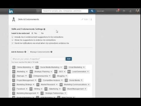 LinkedIn - How to Turn Off or Modify Endorsements